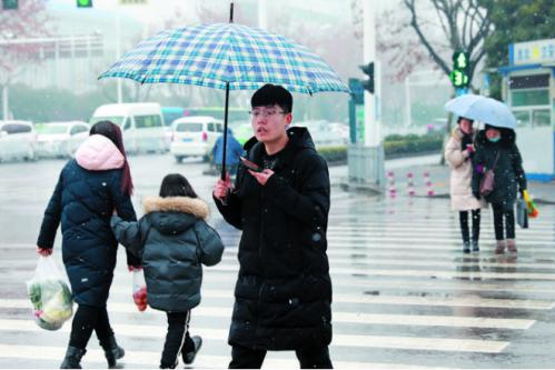 淮北市迎降雪