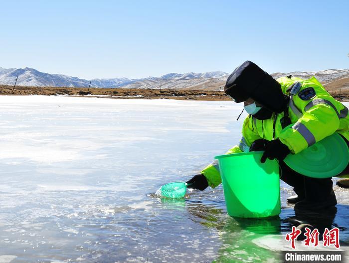 甘肃藏地草原无人区防疫队:搭帐篷生火保暖凿河冰取水生活