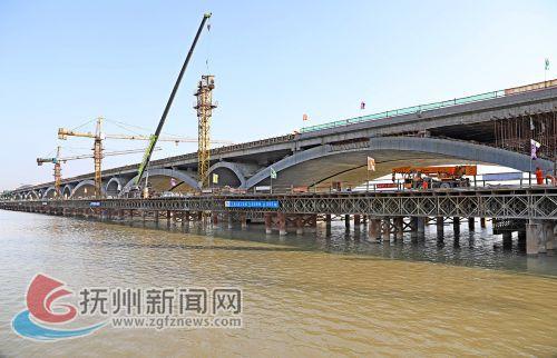 临川才子大桥预计今年6月份通车