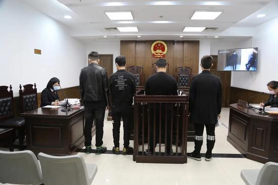 开庭审理温岭市人民检察院供图