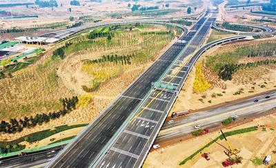 北京新机场北线高速廊坊空港段试通车