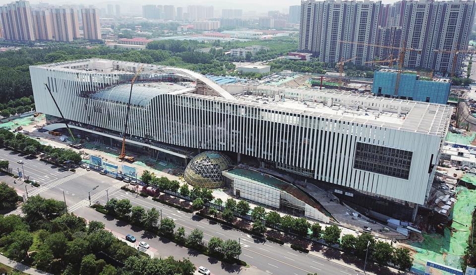 山东省科技馆新馆建设进入尾声预计将于今年6月底竣工