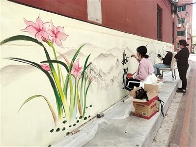 虎石台街道墙画文明