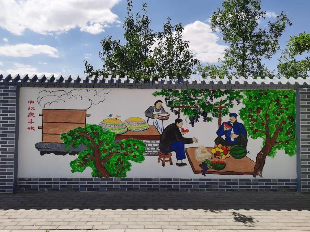 人文金川:特色文化墙 扮靓美丽乡村