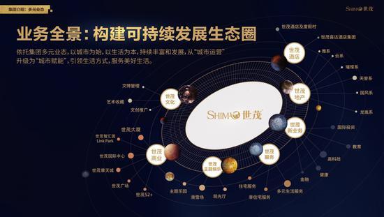 资料图:世茂多元业务图。浙江世茂供图