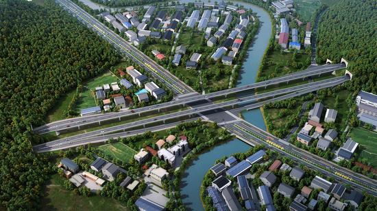 瓯海大道三期效果图中交温州高铁新城提供