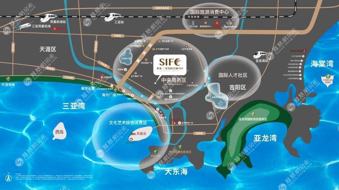 世茂三亚国际金融中心规划图2