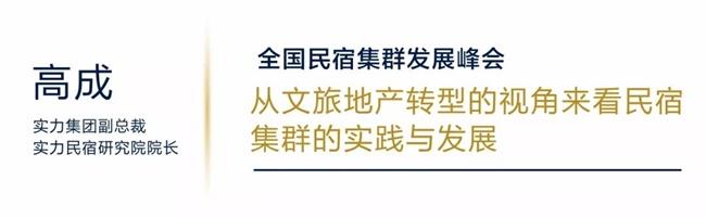 实力集团高成:民宿集群成为了旅游住宿业转型升级突破口