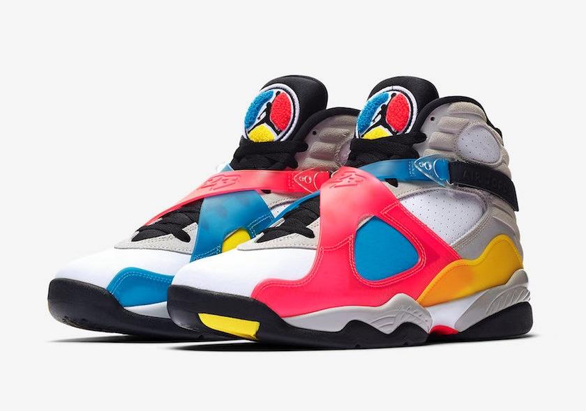 "DSM 独家上架秒售罄?Air Jordan(空中飞人) 8""Multi-Color""官图来袭"