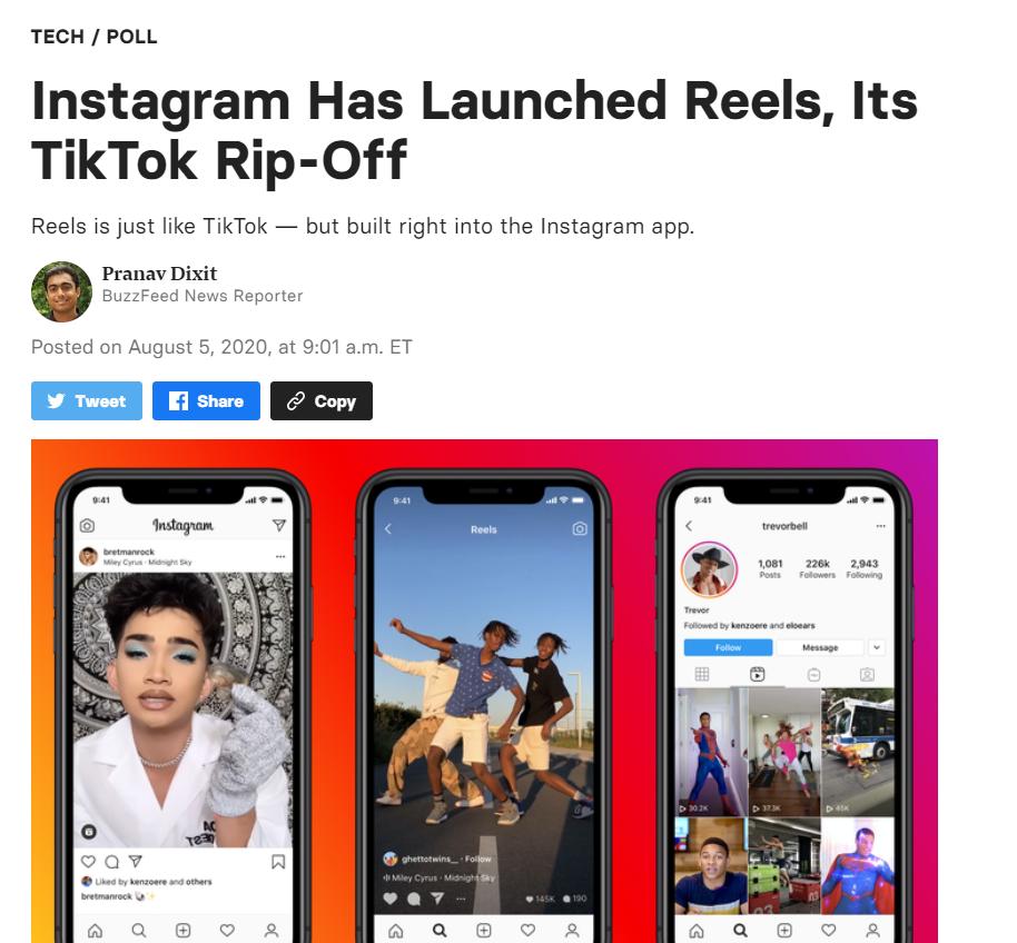 【久久热在线管理】_美媒惊呼:Facebook这是在赤裸裸地抄袭TikTok