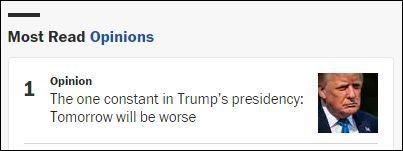 """【国产大片书架】_美媒发出""""绝望""""评论:特朗普任期的最糟时刻永远是明天"""