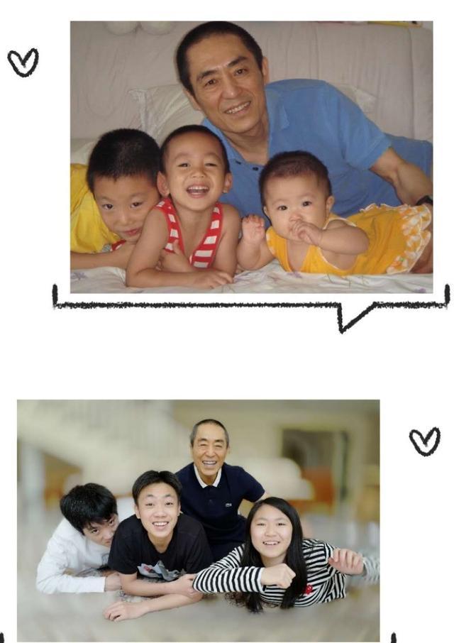 陈婷晒照庆父亲节,70岁张艺谋儿女环绕太幸福
