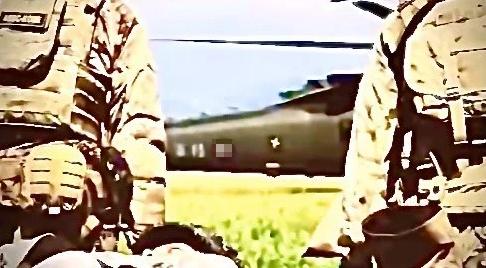 影片中出现的台军直升机 图自联合新闻网