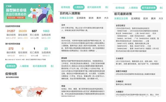"""穷游网上线""""新型肺炎疫情及出行信息动态平台""""为战""""疫""""助力"""