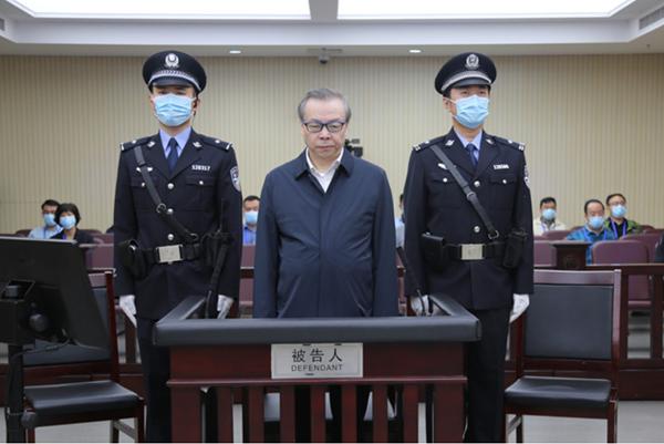2020年8月11日,天津市第二中级人民法院一审公开开庭审理了中国华融资产管理股份有限公司原董事长赖小民受贿、贪污、重婚一案。图为庭审现场。(资料图片)