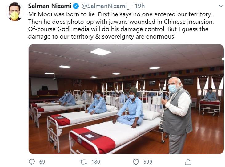 """莫迪在中印边境列城视察假医院?被批""""天生的骗子"""""""