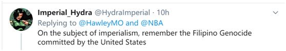 """美议员定制球衣印乱港标语 污蔑中国是""""帝国主义奴隶制国家"""""""