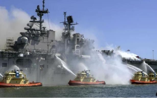 """摩登5代理开户_美国海军宣布报废准航母""""好人理查德号"""":曾燃烧近5日"""