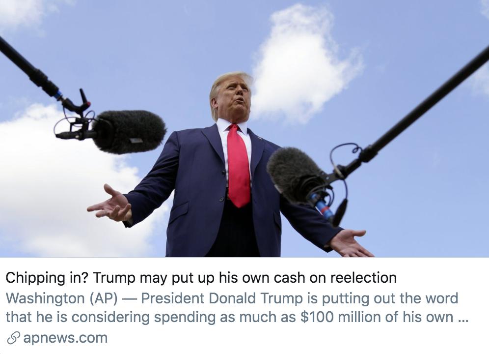 """【株洲亚洲天堂】_为赢得连任,特朗普打算自掏腰包,""""花多少钱都行"""""""