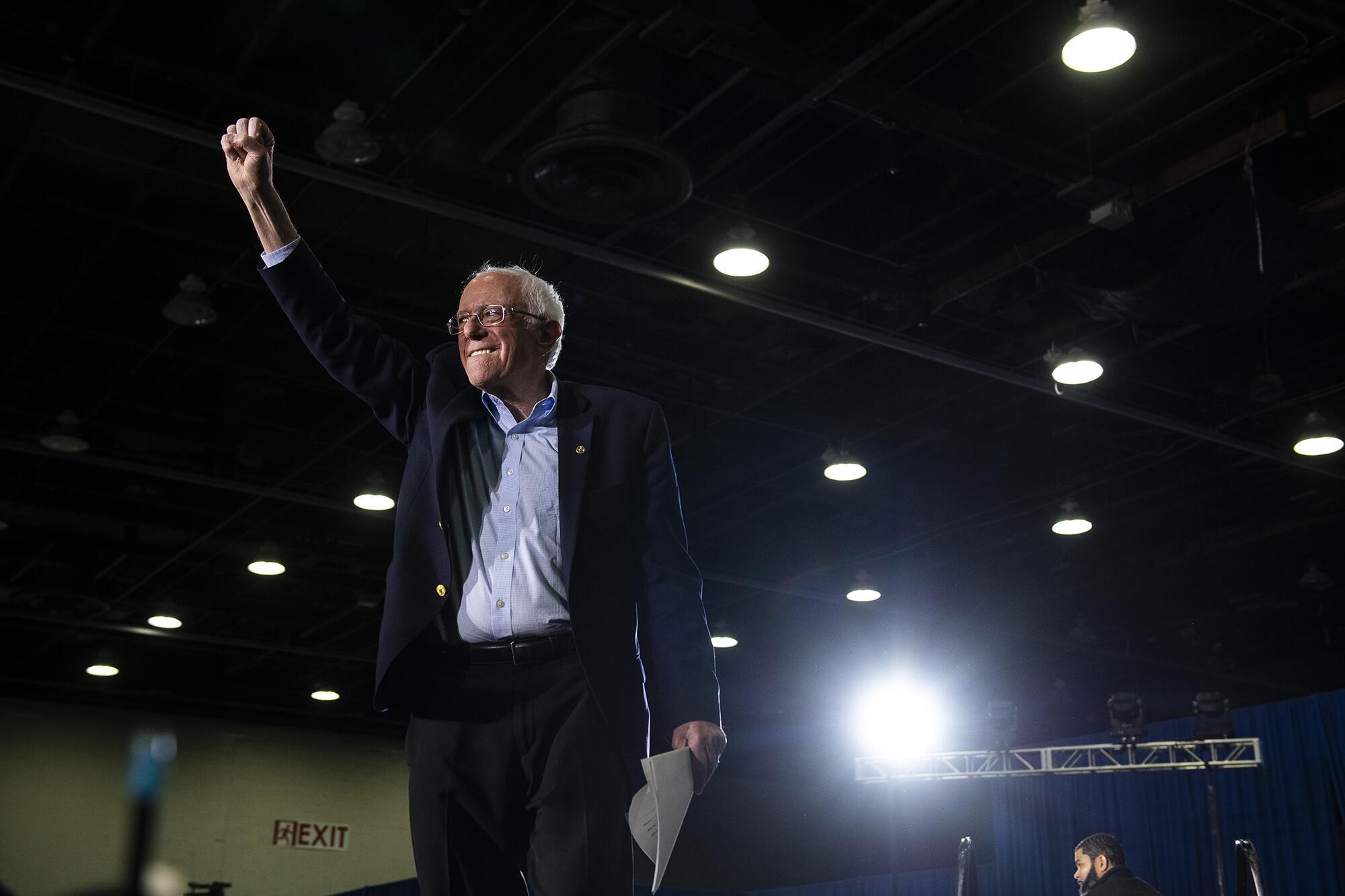 """民主党大会召开,桑德斯将呼吁:击败特朗普,赶走""""史上最危险总统"""""""