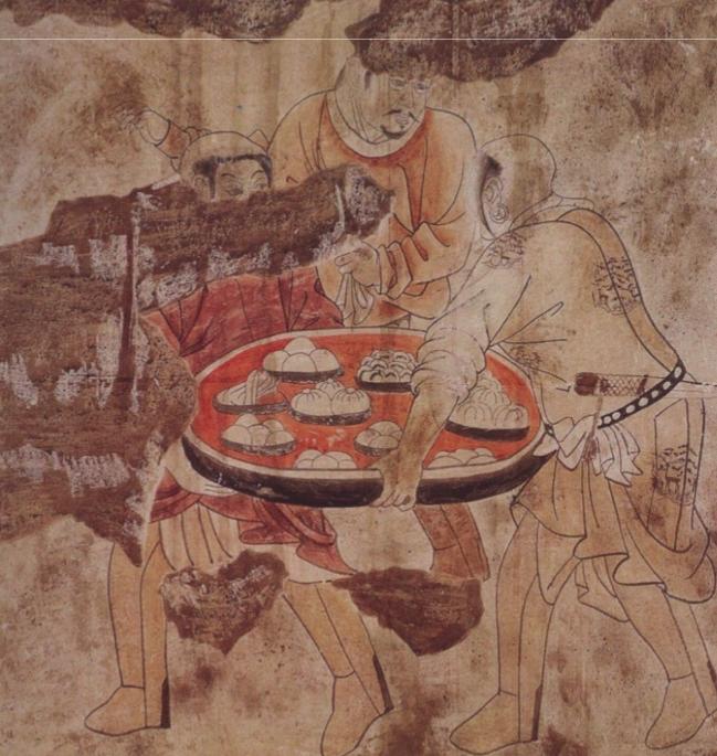 中国古代壁画上的面食