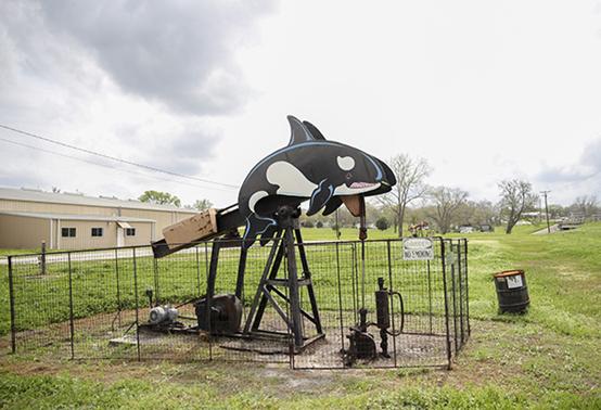 美国得克萨斯州石油小镇。图