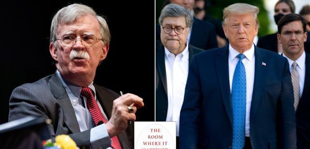 前国家安全顾问约翰·博尔顿(左)将发新书