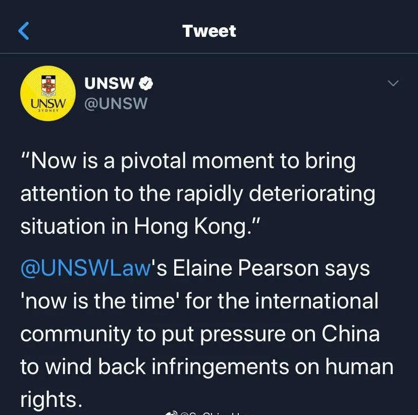 """【外贸亚洲天堂】_""""热情欢迎""""中国留学生后,澳新南威尔士大学在涉港问题上暴露了"""