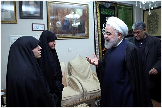 被殺將軍蘇萊馬尼之女當面問伊朗總統:誰來報我父血仇?