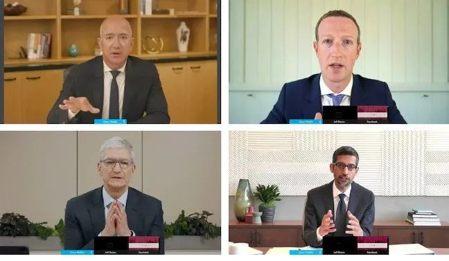 """美国四大科技巨头CEO""""受审""""5小时,他们怎么了?"""