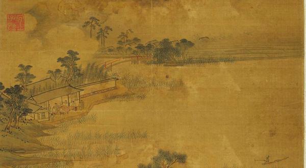 明 宋旭 《清吟消夏图》(局部) 台北故宫博物院藏
