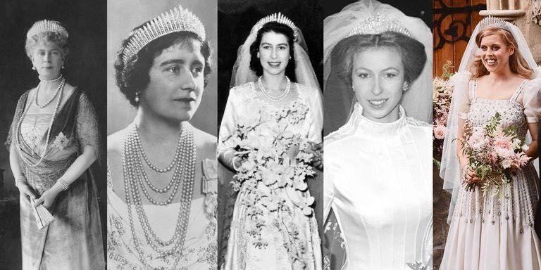 """戴过""""玛丽王后""""钻石王冠的英国王室成员。/图片来自社交媒体"""