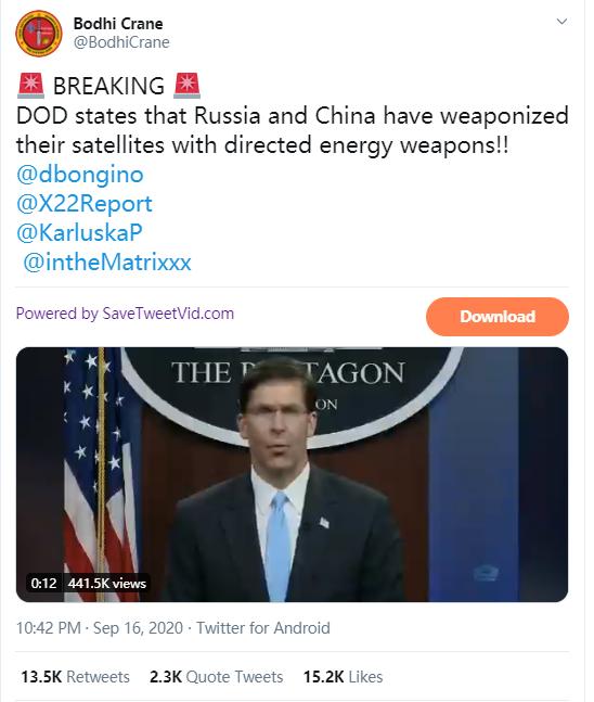 美国加州大火是中国激光武器制造?脑洞真大