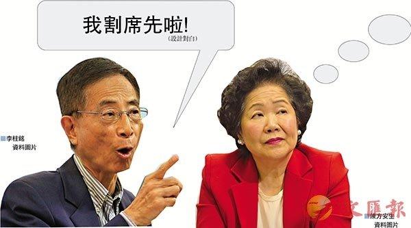 李柱铭(左)陈方安生(图源: 香港《文汇报》)