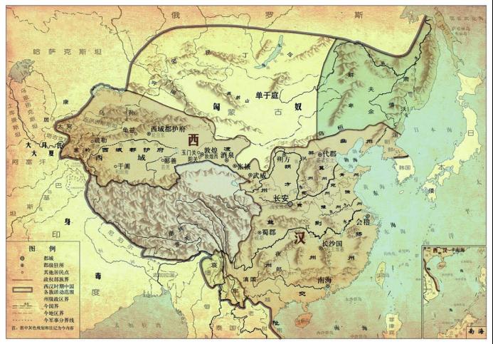 汉匈局势图