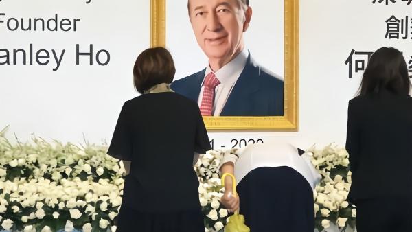 澳门葡京酒店设纪念区,员工悼念何鸿燊