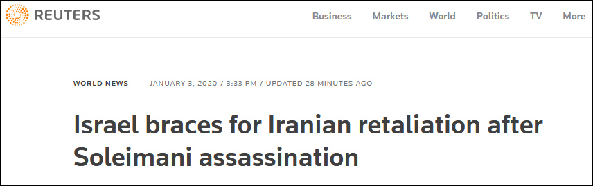 伊朗誓言報復后,以色列先害怕了