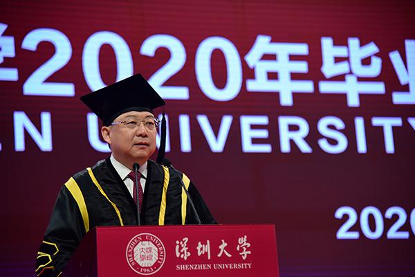 【营销视频】_深圳大学校长李清泉:同学们要讲真话、做实事、永怀信心