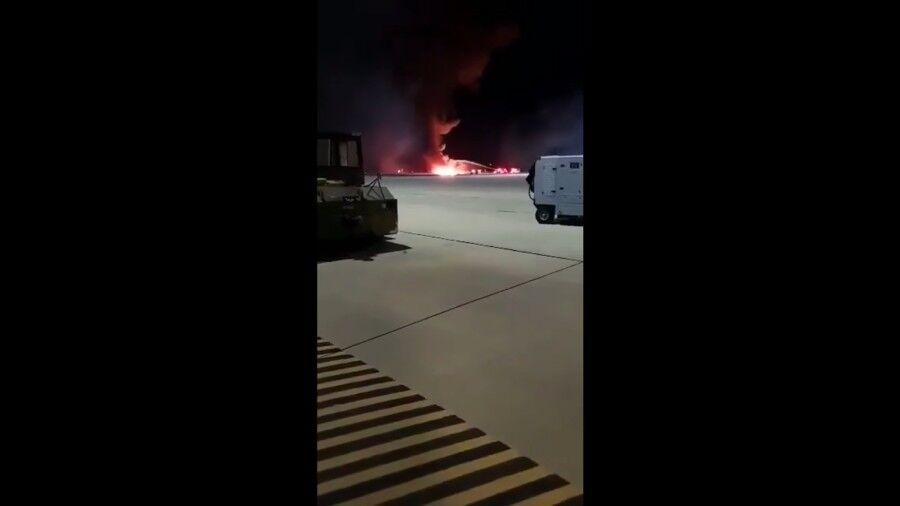 F-16坠毁现场画面