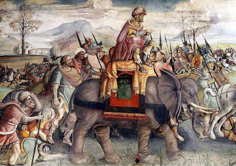 圖為小亞西亞象軍,羅馬共和時代常對東方發動戰爭
