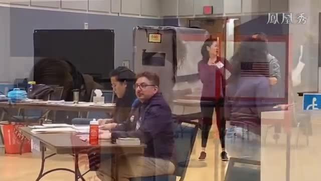 凤凰卫视记者弗吉尼亚州投票站报道:现场井然有序