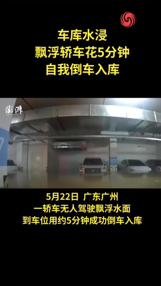车库水浸,漂浮轿车自动倒车入库