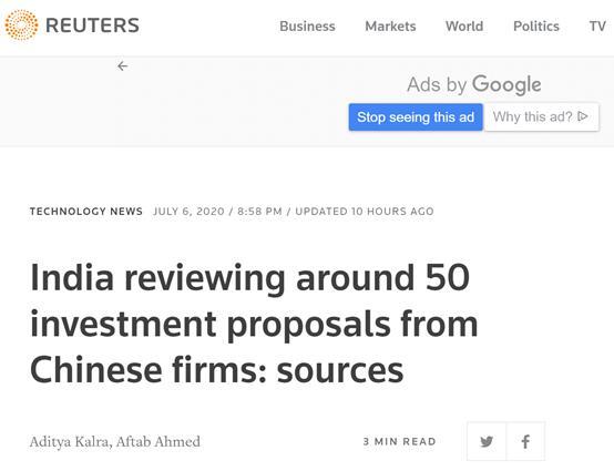"""【搜索引擎优化排名】_又要出""""损招""""?路透社:印度正审查约50项涉中企的投资提案"""