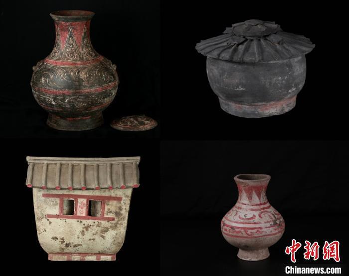彩绘陶器。陕西省考古研究院