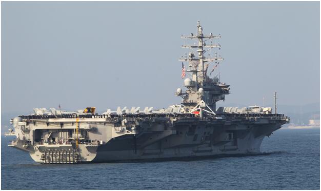 """美海军""""里根""""号航母资料图"""