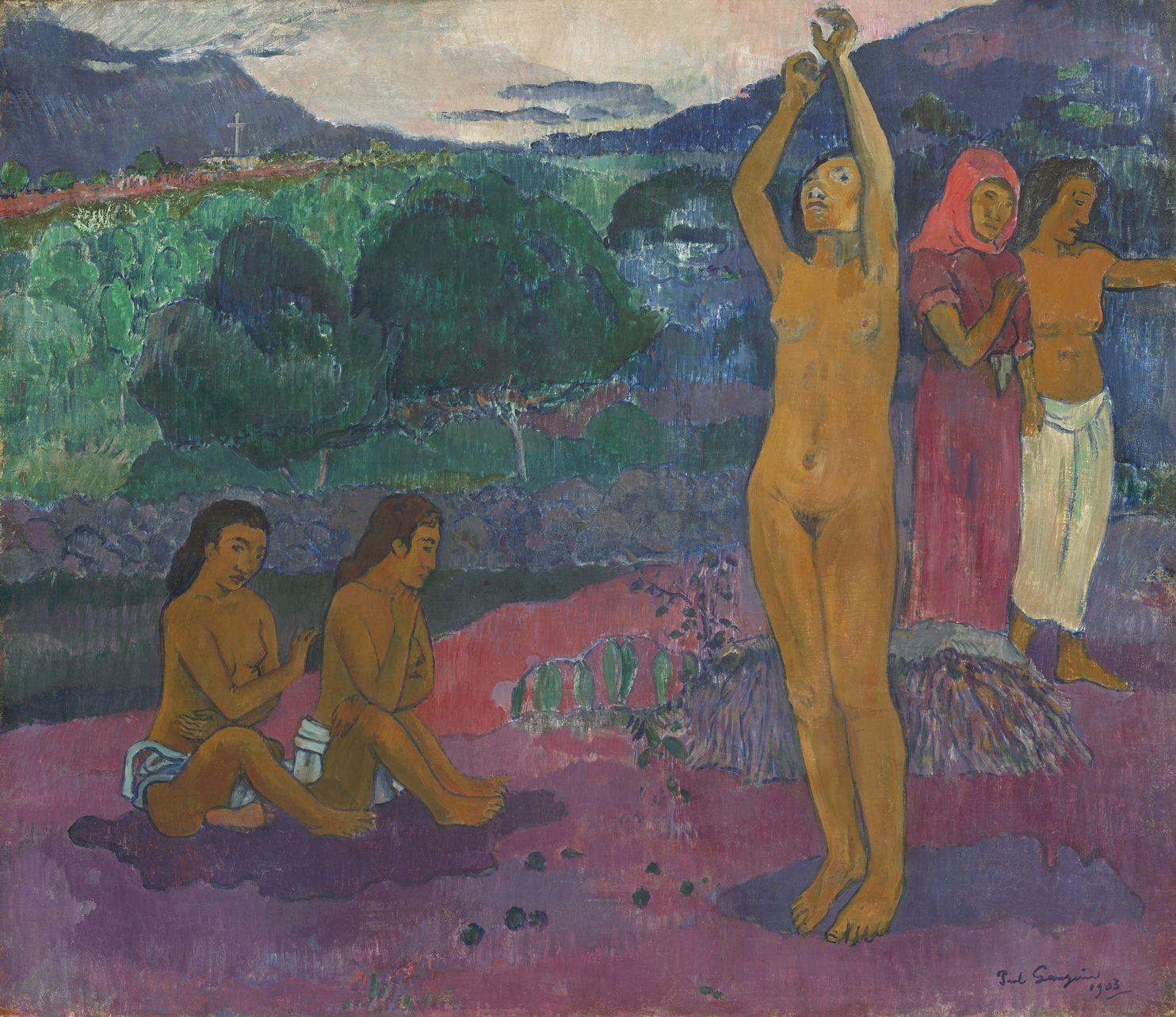 保罗·高更《祈愿》(The Invocation,1903),华盛顿国家美术馆收藏