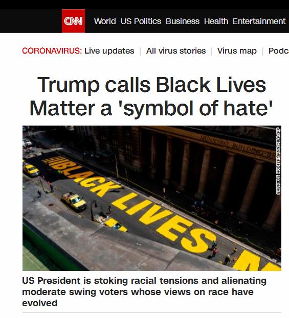 """【点点快猫网址】_特朗普发推炮轰""""黑人的命也是命"""":这是""""仇恨象征"""""""