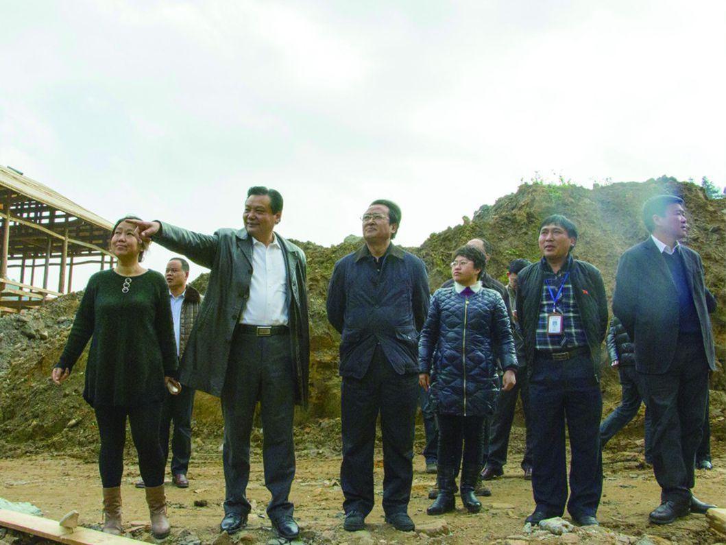 2015年独山县委原书记潘志立视察净心谷项目