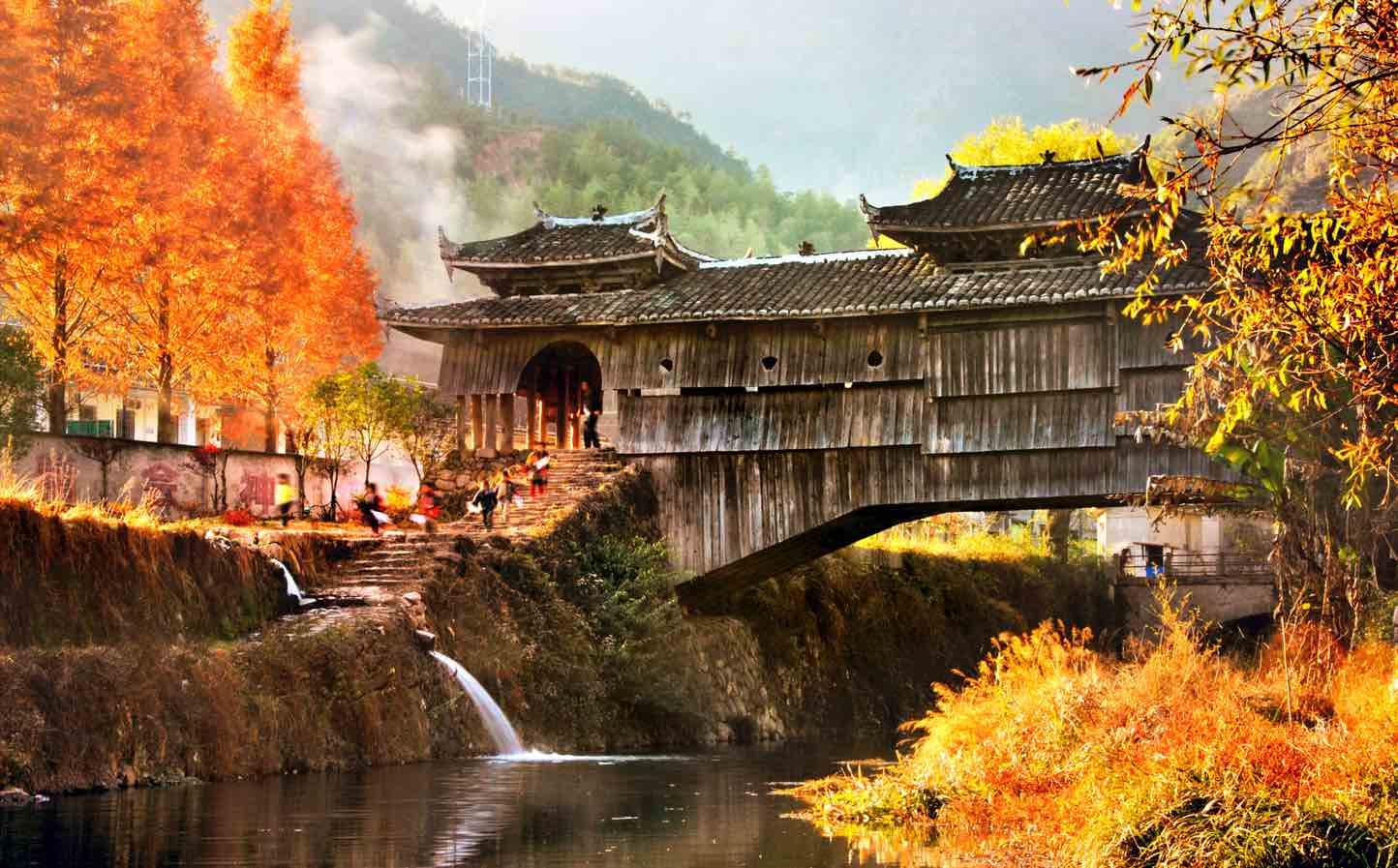 庆元廊桥秋景