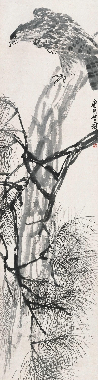 松鹰 齐白石 182×47cm 北京画院藏